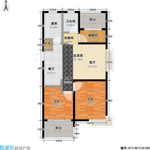 蜜橙2室0厅1卫1厨93.00㎡户型图