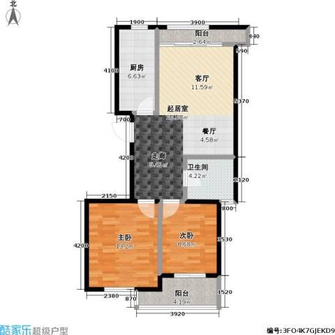 金桥澎湖山庄2室0厅1卫1厨93.00㎡户型图