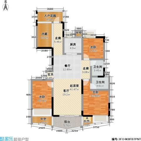 赣晟御澜湾3室0厅2卫1厨161.00㎡户型图