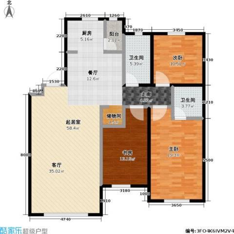 双兴六月天3室0厅2卫0厨156.00㎡户型图