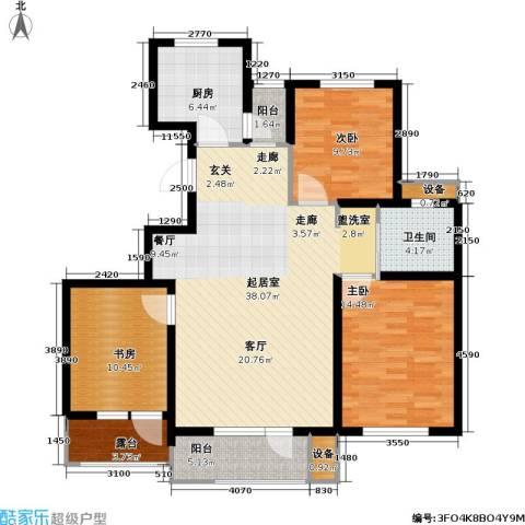 上城雅园3室0厅1卫1厨119.00㎡户型图