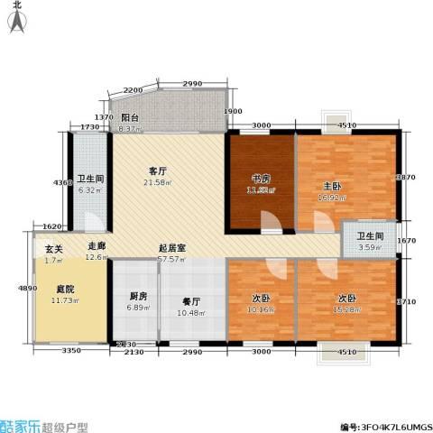 龙湾一品4室0厅2卫1厨164.00㎡户型图