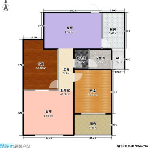 中科印象1室0厅1卫1厨119.00㎡户型图