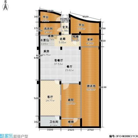 钻石海岸2厅1卫0厨174.00㎡户型图