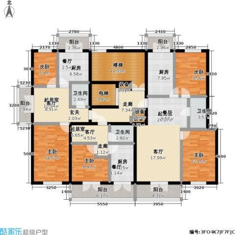奕人花园5室0厅3卫3厨247.00㎡户型图