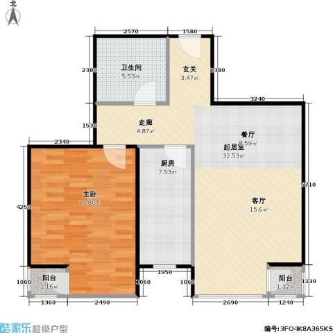 幻星家园1室0厅1卫1厨67.00㎡户型图