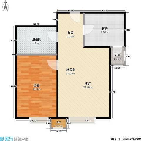 幻星家园1室0厅1卫1厨63.00㎡户型图