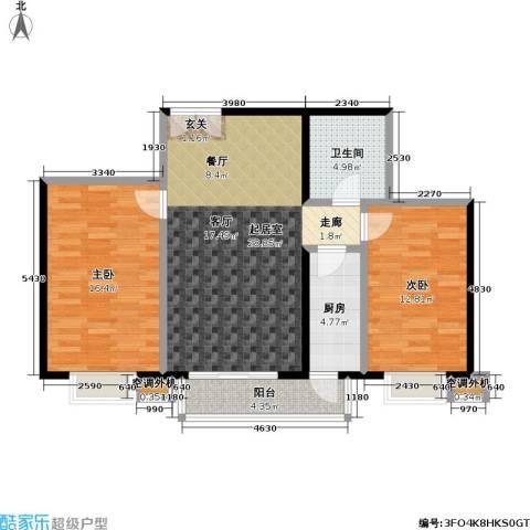 米罗公元・方丹苑Ⅱ2室0厅1卫1厨97.00㎡户型图