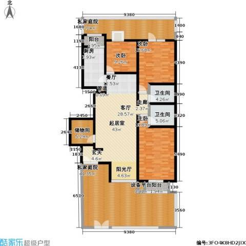 万科青青家园3室0厅2卫1厨173.16㎡户型图