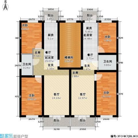 联通名苑4室0厅2卫0厨177.00㎡户型图