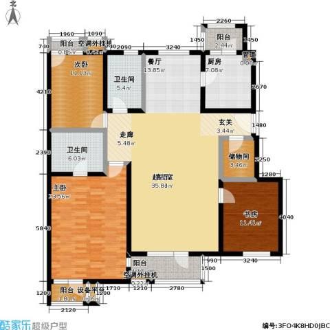 万科青青家园3室0厅2卫1厨159.00㎡户型图