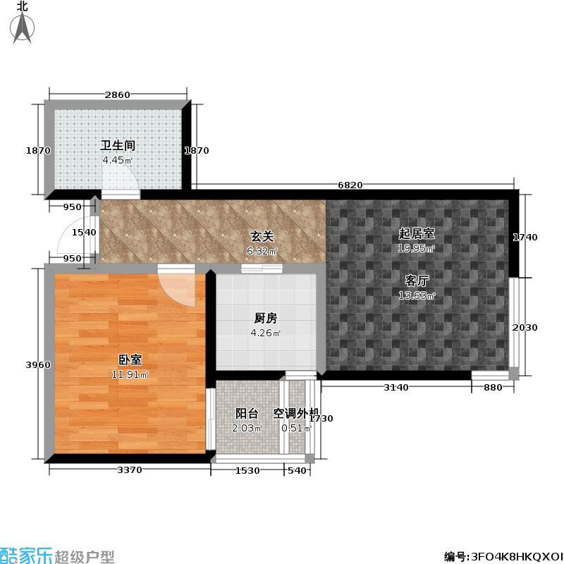 米罗公元・方丹苑Ⅱ59.70㎡2号楼D户型