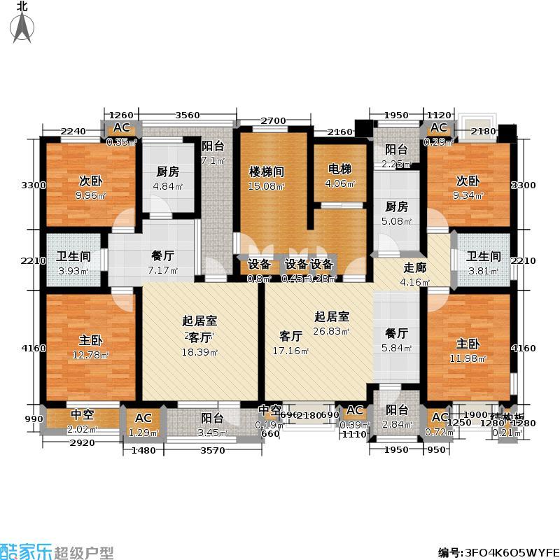 福渔园枫尚河院89.74㎡三层户型2室2厅1卫