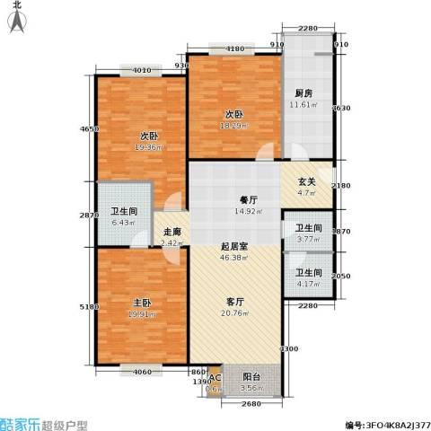 幻星家园3室0厅3卫1厨139.00㎡户型图