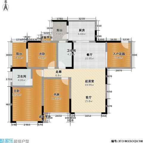 富临桃花岛3室0厅2卫1厨143.00㎡户型图