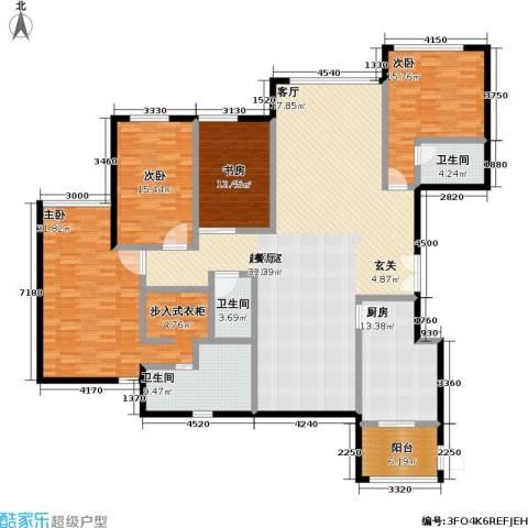 亚特兰大厦4室0厅3卫1厨206.00㎡户型图