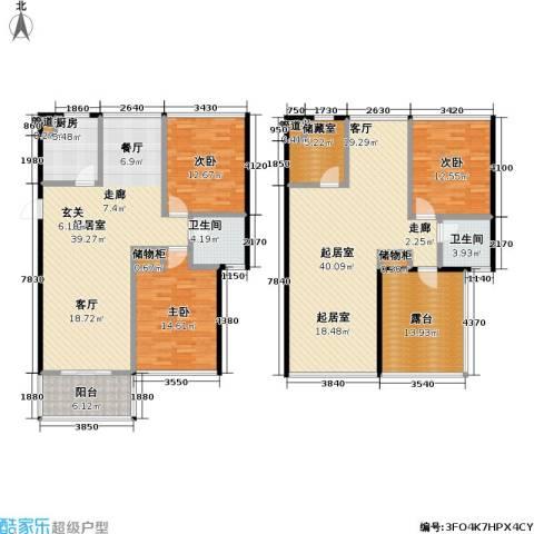 新港清华苑3室0厅2卫1厨224.00㎡户型图
