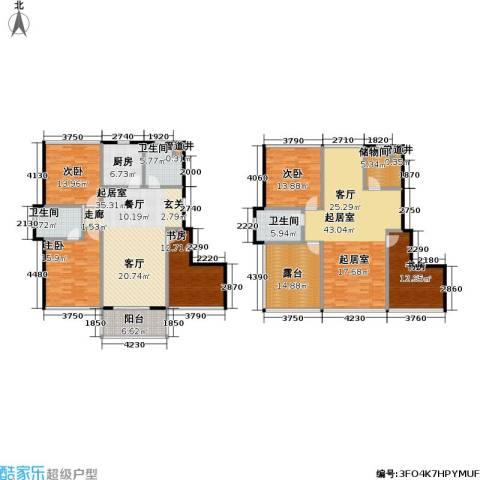 新港清华苑5室0厅3卫1厨278.00㎡户型图