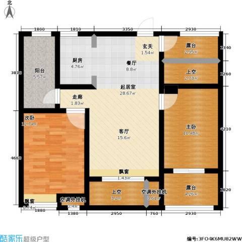 首创悦府2室0厅0卫0厨85.00㎡户型图