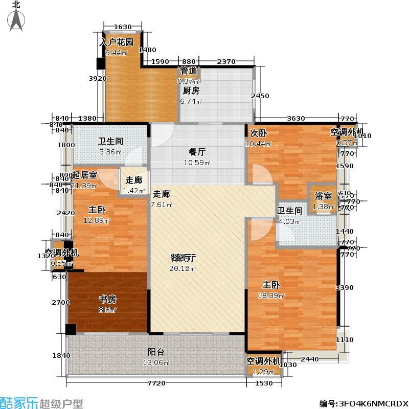 中珠九悦124.00㎡中珠九悦B3户型3室2厅2卫