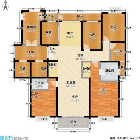 栖霞栖园4室0厅3卫1厨187.00㎡户型图