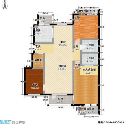 万科青青家园3室0厅2卫1厨145.00㎡户型图