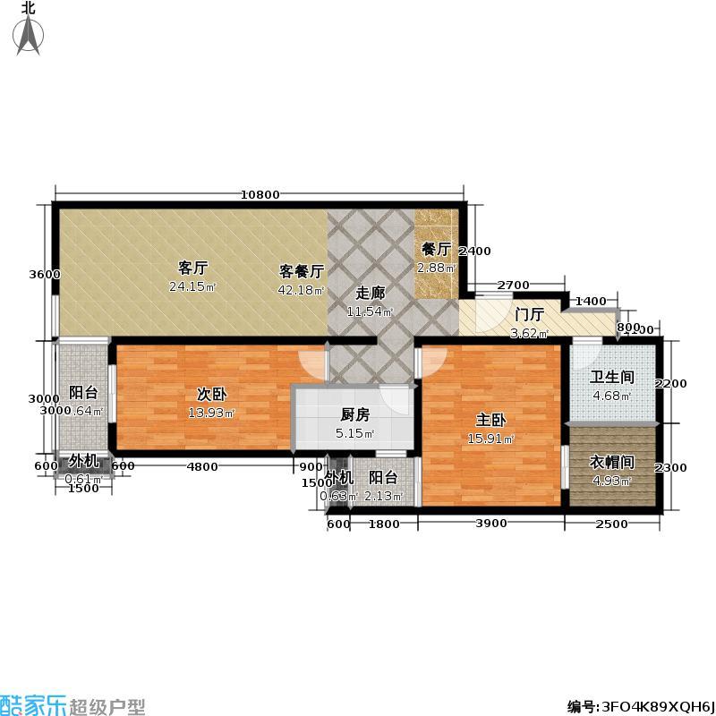 上东三角洲122.56㎡5.6.7号楼E户型