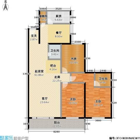 绿荫芳林3室0厅2卫1厨155.00㎡户型图