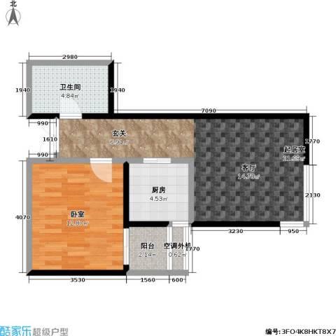 米罗公元・方丹苑Ⅱ1卫1厨60.00㎡户型图