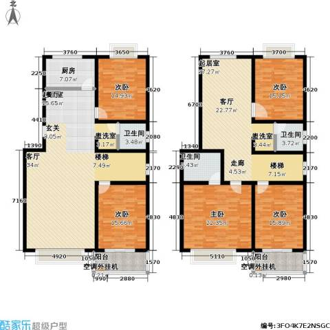 昊海花园5室0厅3卫1厨238.00㎡户型图