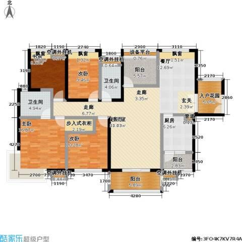 中信凯旋国际4室0厅2卫1厨164.00㎡户型图