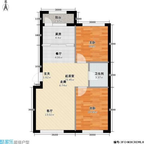 悦城・红光秀苑2室0厅1卫1厨78.00㎡户型图