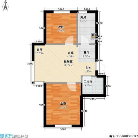 悦城・红光秀苑2室0厅1卫1厨65.00㎡户型图