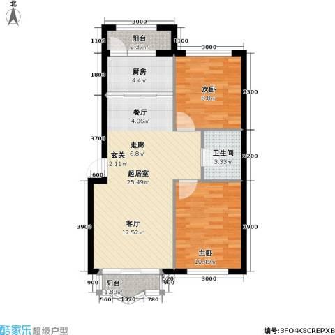 悦城・红光秀苑2室0厅1卫1厨81.00㎡户型图