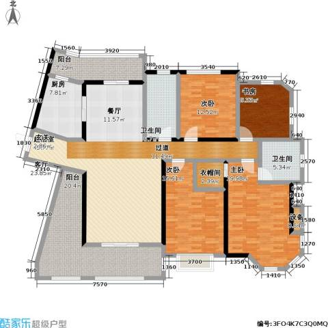 上海公馆4室0厅2卫1厨181.00㎡户型图