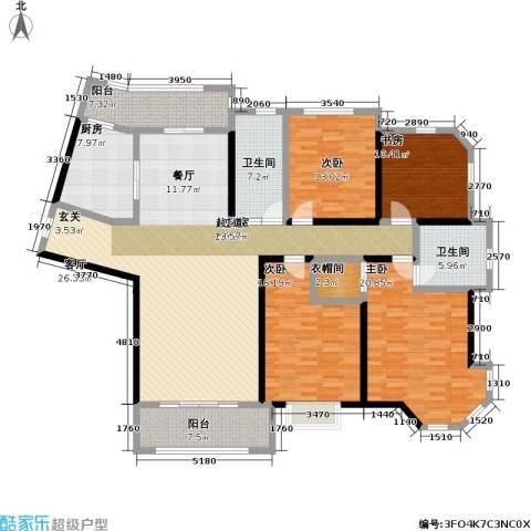 上海公馆4室0厅2卫1厨177.00㎡户型图