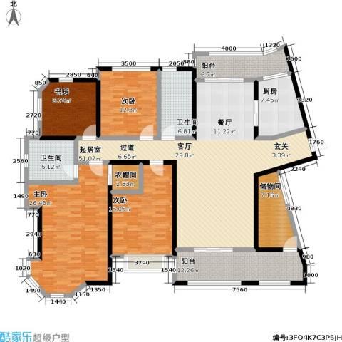 上海公馆4室0厅2卫1厨188.00㎡户型图