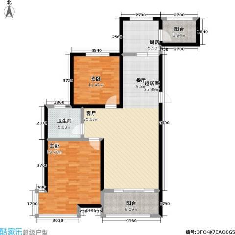 高速仁和盛庭2室0厅1卫1厨97.00㎡户型图