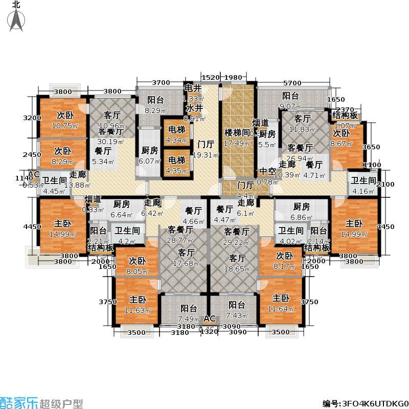 恒大御景半岛3号楼A、B/C、D户型
