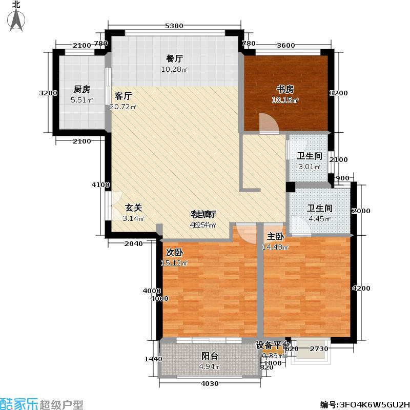 盛世豪园114.71㎡C1户型2室2厅1卫