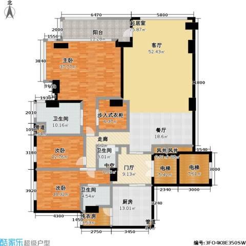 Naga上院3室0厅3卫1厨300.00㎡户型图