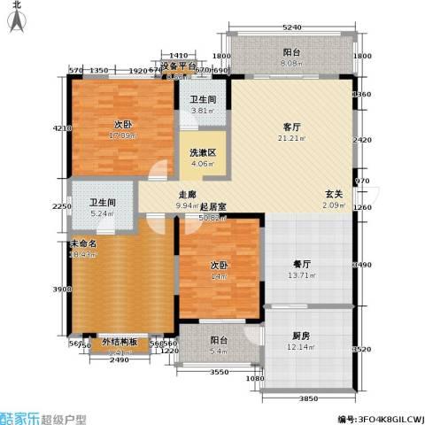 华富世家2室0厅2卫1厨150.00㎡户型图