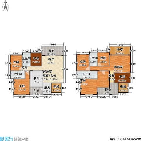 一品名门云墅7室1厅4卫1厨213.84㎡户型图