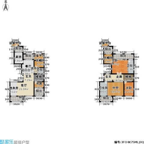 融绿�园3室0厅3卫1厨312.00㎡户型图