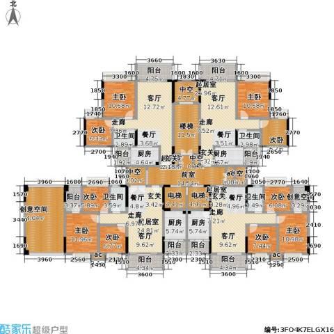 翰林名苑9室0厅4卫4厨472.00㎡户型图