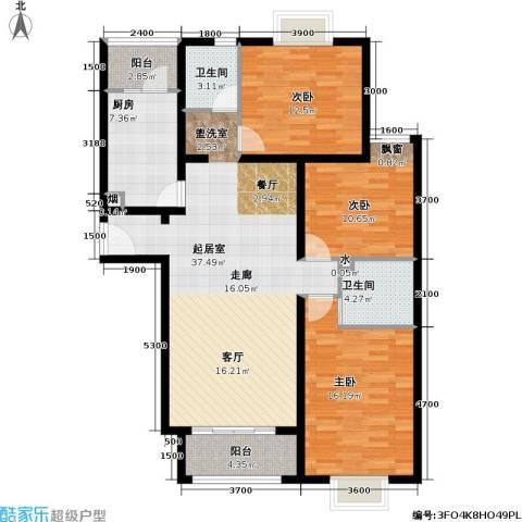博雅德园3室0厅2卫1厨137.00㎡户型图