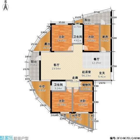 金色港湾4室0厅2卫1厨187.00㎡户型图