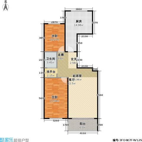 康居新城2室0厅1卫1厨119.00㎡户型图