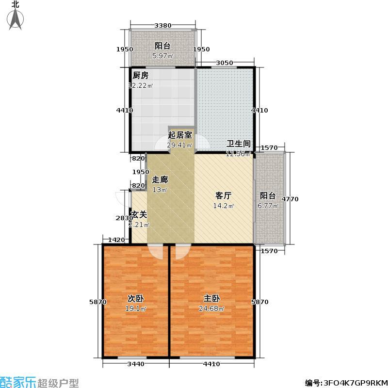康居新城未命名户型2室1卫1厨