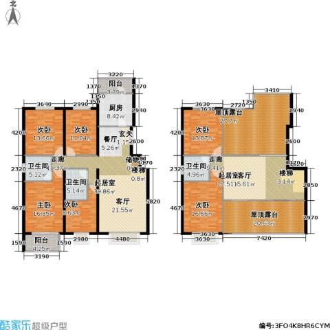 书海文园(骏城二期)6室0厅3卫1厨228.18㎡户型图